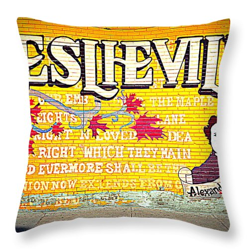 Leslieville Toronto Throw Pillow For Sale By Valentino Visentini 18 X 18