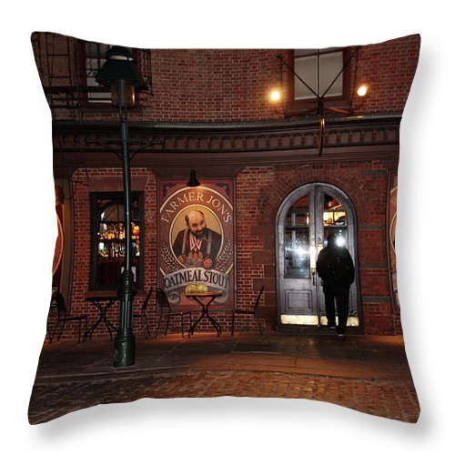 Pub Throw Pillow featuring the photograph Let Me In by Terry Wallace