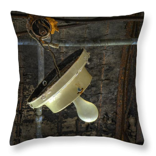 Lamp Throw Pillow featuring the photograph Let There Be Light by Murray Bloom