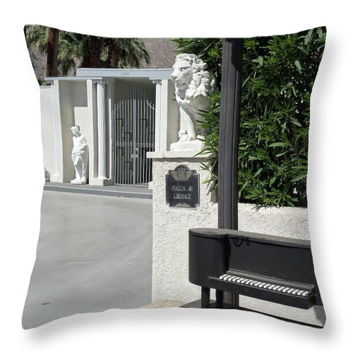 Liberace Throw Pillow featuring the photograph Liberace's Driveway by Randall Weidner