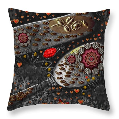 Combs Throw Pillow featuring the mixed media Liberation And Cookies by Pepita Selles