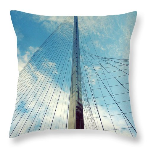 Rochester Throw Pillow featuring the photograph Liberty Pole by Kristen Cavanaugh