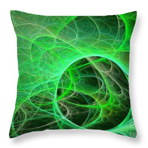 Apophysis Throw Pillow featuring the digital art Libra by Kim Sy Ok