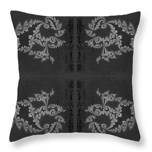 Fractal Throw Pillow featuring the photograph Licorice And Lace by Mother Nature
