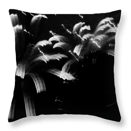 Fireworks Throw Pillow featuring the photograph Licorice Sky by DigiArt Diaries by Vicky B Fuller