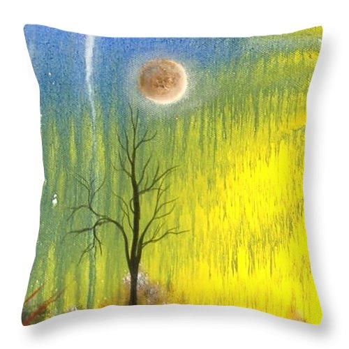 Mars Throw Pillow featuring the painting Life On Mars by Rain Crow