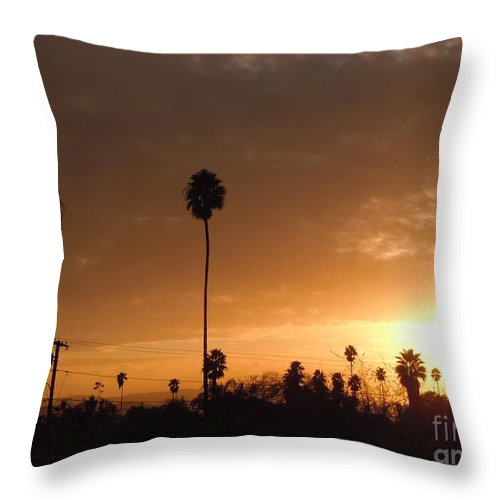 Sun Set Throw Pillow featuring the photograph Life Source... by Customikes Fun Photography and Film Aka K Mikael Wallin