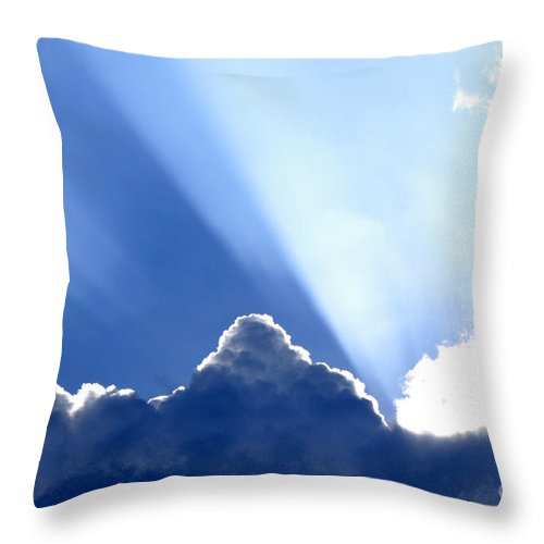 Light Throw Pillow featuring the photograph Light Breaks Through by Thomas R Fletcher