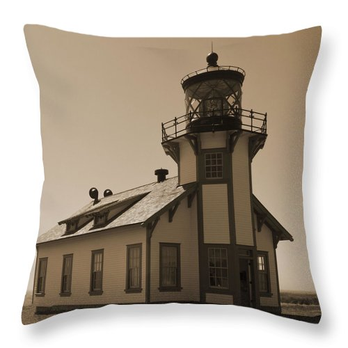 Light House Throw Pillow featuring the photograph Light House 3 by Pam Holdsworth