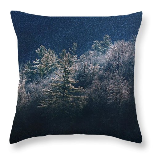 Mountain Throw Pillow featuring the photograph Light Play by Gray Artus