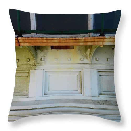 California Throw Pillow featuring the photograph Lighthouse Detail by Bob Christopher
