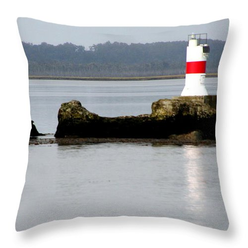Lighthouse Throw Pillow featuring the photograph Lighthouse In Laguna San Rafael by Laurel Talabere