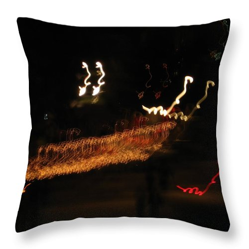 Lights Throw Pillow featuring the photograph Lights by Amy Hosp