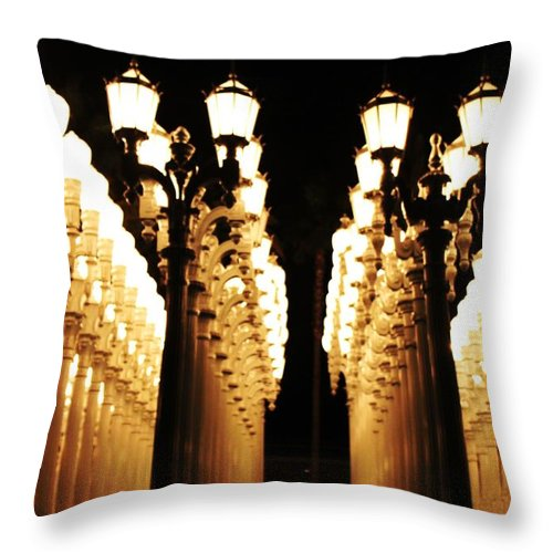 Lights Throw Pillow featuring the photograph Lights by Caroline Lomeli