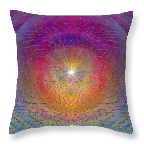 Abstract Throw Pillow featuring the digital art Lightwave Geometrics by Tim Allen