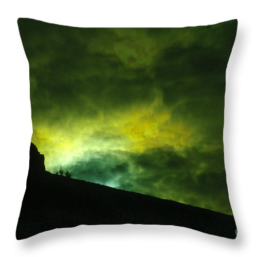 Light Throw Pillow featuring the photograph Like A Tinge Of Hope by Jeff Swan