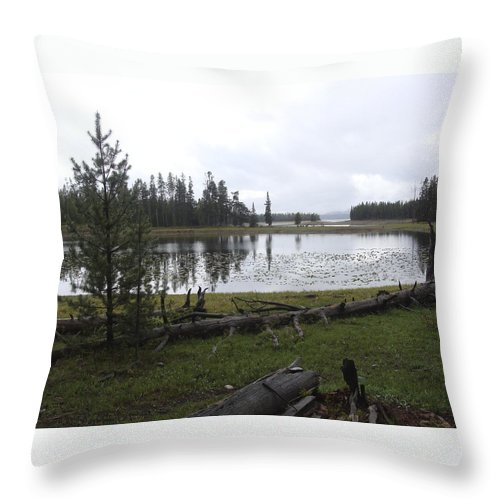 Grand Teton National Park Throw Pillow featuring the photograph Lillies On The Lake by Ramie Liddle