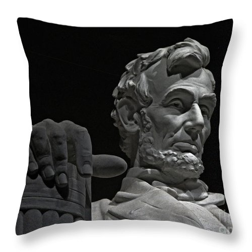 Lincoln Memorial Throw Pillow featuring the photograph Lincoln Memorial by Jack Schultz