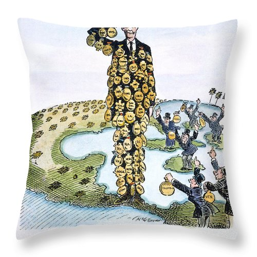 1927 Throw Pillow featuring the drawing Lindbergh Cartoon by Granger