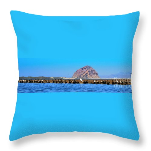 Birds Throw Pillow featuring the photograph Line Up by Tap On Photo