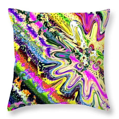 Art Digital Art Throw Pillow featuring the digital art Liquid Clam by Alex Porter