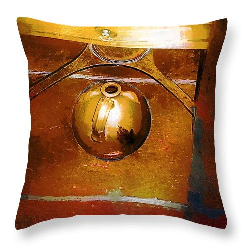 Americana Throw Pillow featuring the painting Little Brown Jug by RC DeWinter