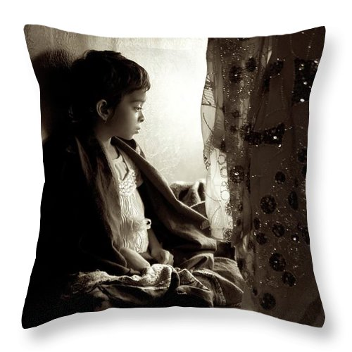 Children Throw Pillow featuring the photograph Little Lady by Valerie Rosen