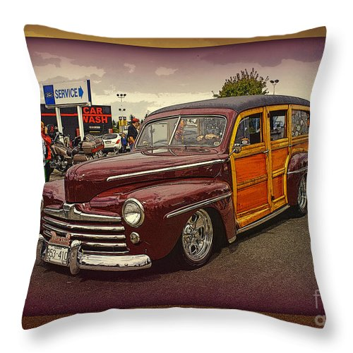 Cars Throw Pillow featuring the photograph Little Old Woody by Randy Harris