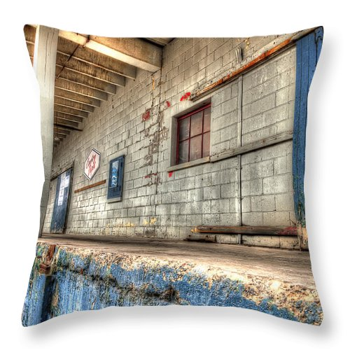 Acrylic Prints Throw Pillow featuring the photograph Loading Dock by John Herzog