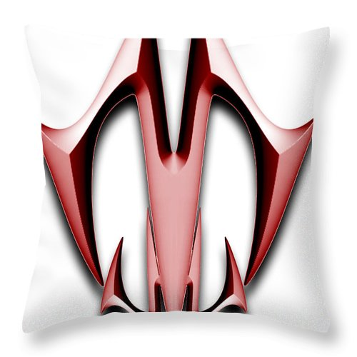 Linman Throw Pillow featuring the painting Logo2 by Mike Linman