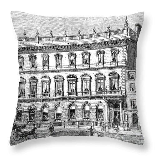 1868 Throw Pillow featuring the photograph London: Carlton Club, 1868 by Granger