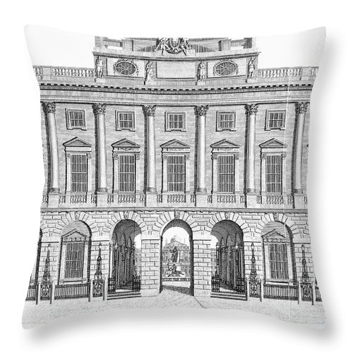 1798 Throw Pillow featuring the photograph London: Royal Academy by Granger