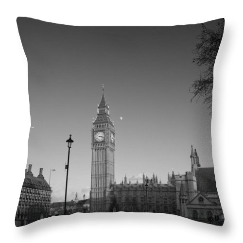 Westminster Throw Pillow featuring the photograph London Skyline Big Ben by David French