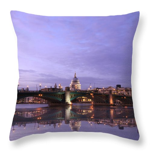 Cityscape Throw Pillow featuring the photograph London Skyline by David French