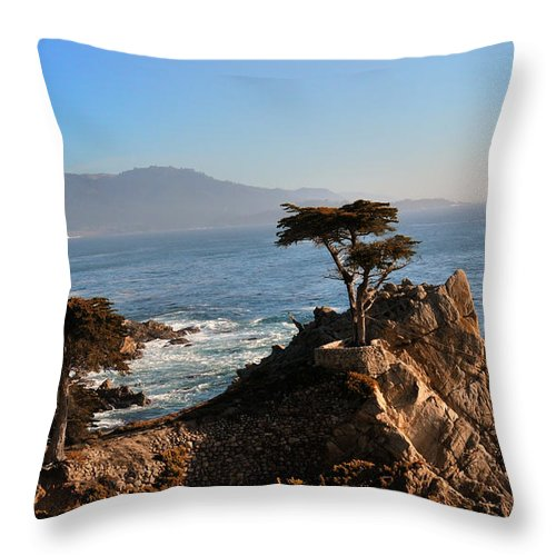 Trees Throw Pillow featuring the photograph Lone Cypress by Paul Beckelheimer