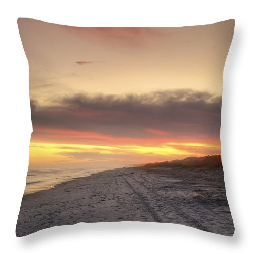 Beach Throw Pillow featuring the photograph Lonely Beach by Phill Doherty