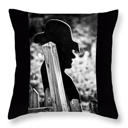Cowboy Throw Pillow featuring the photograph Lonely Cowboy by Carolyn Marshall