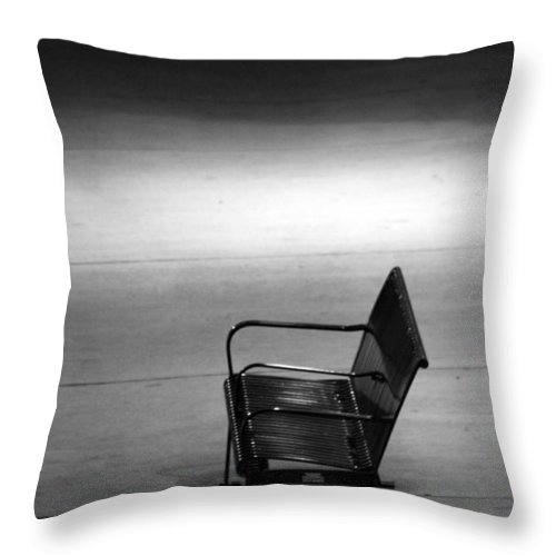 Bench Throw Pillow featuring the photograph Lonely by Lauri Novak