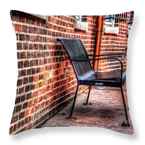 Annapolis Throw Pillow featuring the photograph Lonely Seat by Debbi Granruth