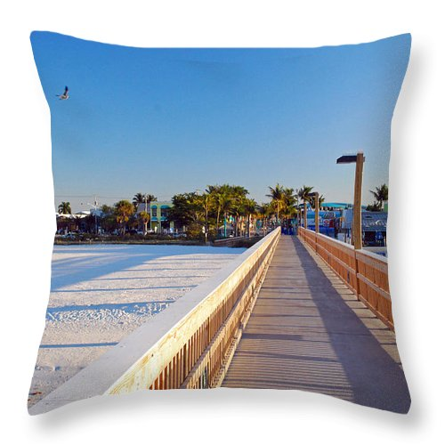 Sunny Throw Pillow featuring the photograph Long Walk Home by Gary Wonning