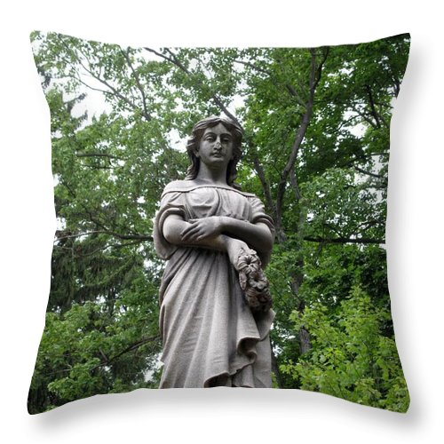 Lady Throw Pillow featuring the photograph Looking Down by Michele Nelson