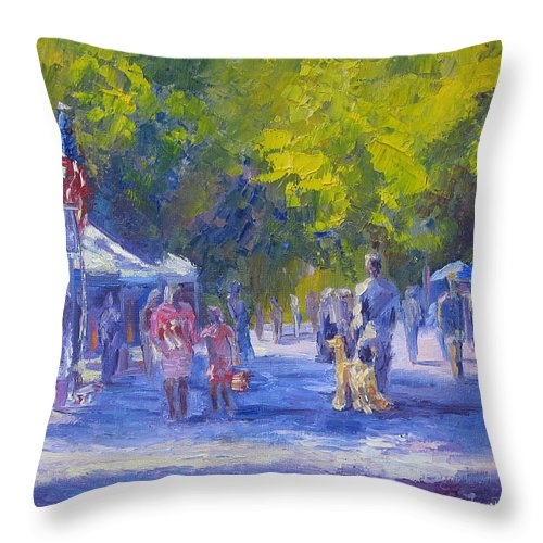Shopping Throw Pillow featuring the painting Looking For Ring 5 by Terry Chacon