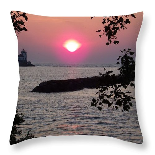 Sunset Throw Pillow featuring the photograph Looking Out by Charleen Treasures