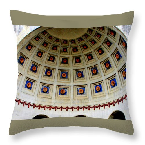 Dome Throw Pillow featuring the photograph Looking Up by Laurel Talabere