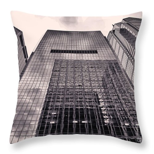 Philadelphia Throw Pillow featuring the photograph Looking Up Philadelphia 5 by Jack Paolini