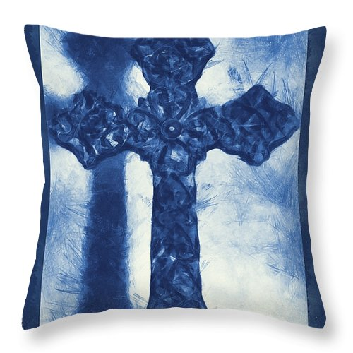 Faith Throw Pillow featuring the mixed media Lord Have Mercy 3 by Angelina Vick