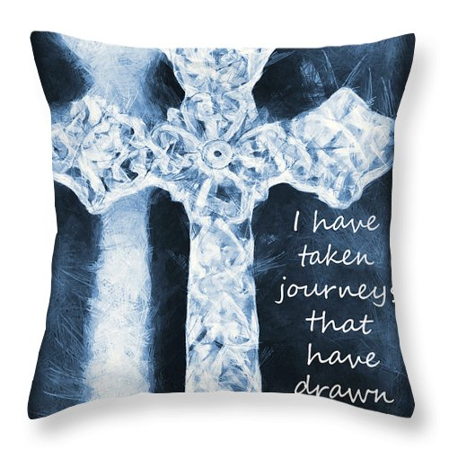 Faith Throw Pillow featuring the photograph Lord Have Mercy With Lyrics by Angelina Vick