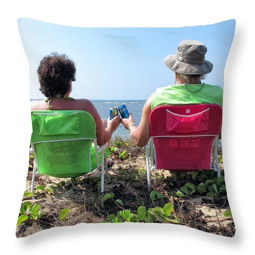 Couple Throw Pillow featuring the photograph Lori And Chris 1 by Dawn Eshelman