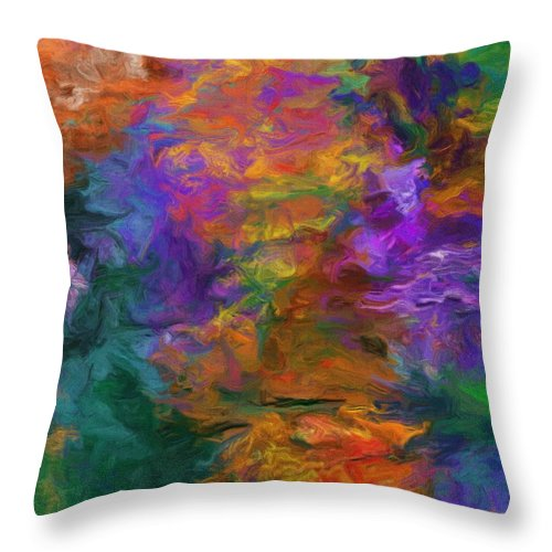 Fine Art Throw Pillow featuring the digital art Lost In October by David Lane