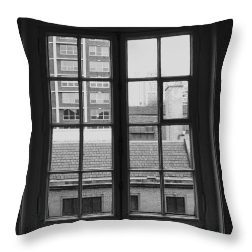 Window Throw Pillow featuring the photograph Lots Of Lines by Anna Villarreal Garbis